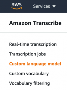 boost transcription accuracy of class lectures with custom language models for amazon transcribe hyperedge embed