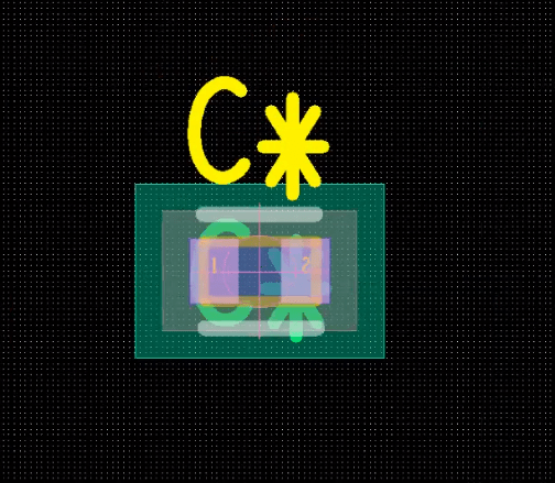 PCB footprint creation with reference designator in Allegro