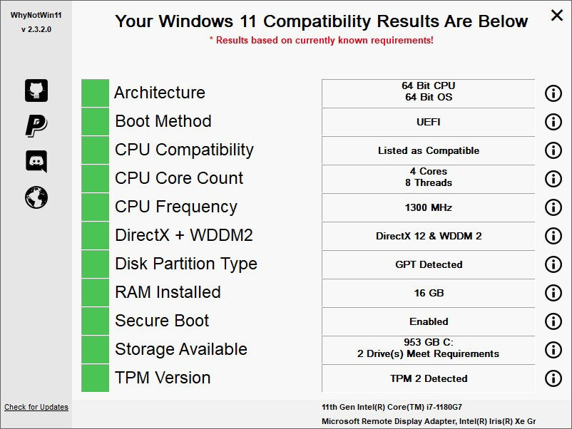 win11 upgrade check 05 whynotwin11 yes