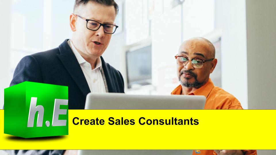 Create Sales Consultants