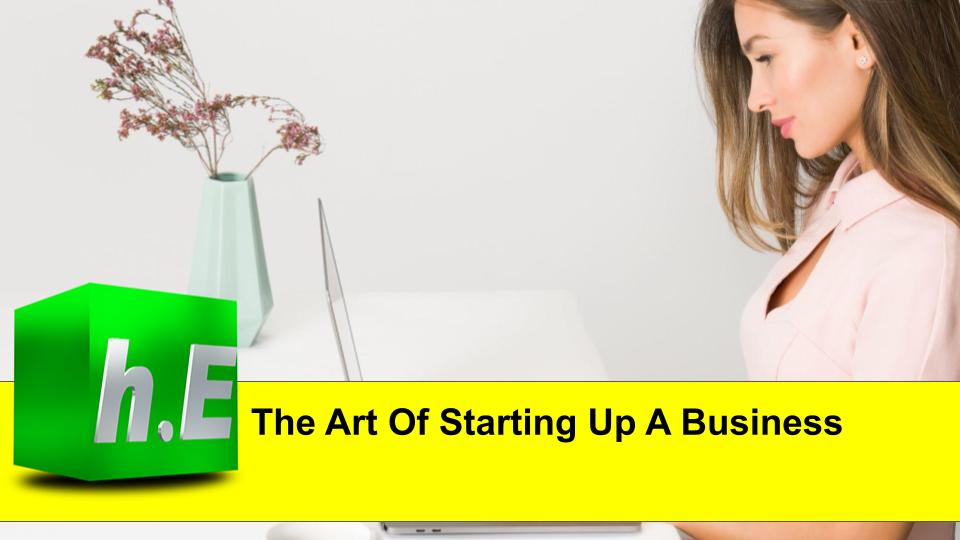 The Art Of Starting Up A Business