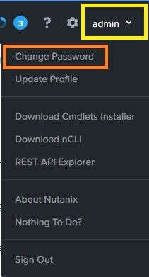 Change Nutanix Prism Central Password