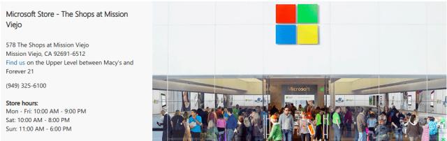 Microsoft street shops