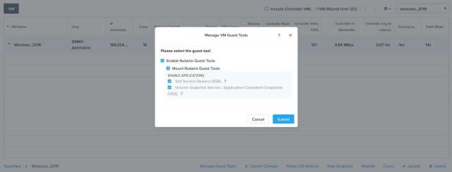Mount Nutanix NGT Tool in Windows, Linux Guest VM