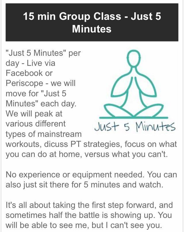 "EDS Wellness' ""Just 5 Minutes"" Class – Live at The Mindfulness Center"