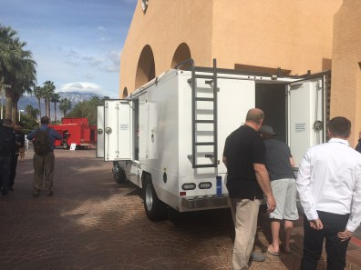 hypervac employees near duct truck