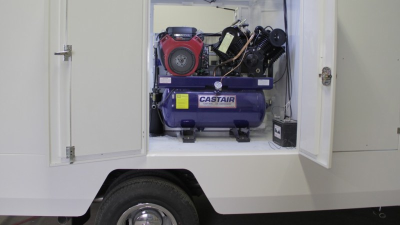 CASTAIR 43 CFM unit installed in the H1 Duct Truck