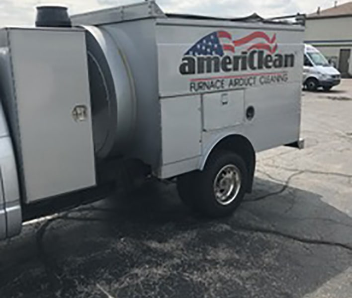 Americlean duct truck side of truck