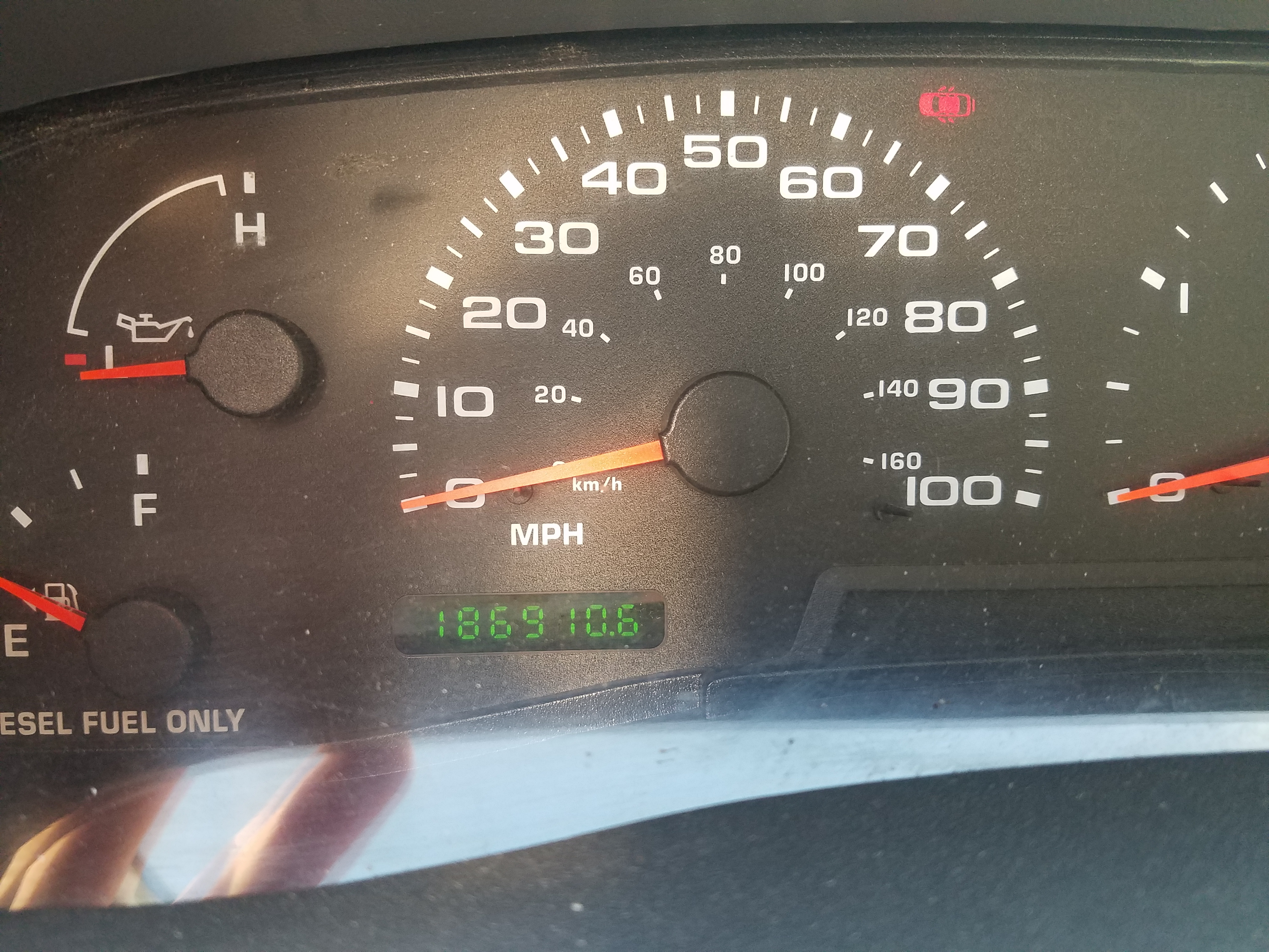 duct truck odometer