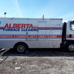 Alberta furnace cleaners duct truck side