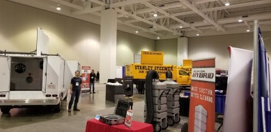 h1 duct truck and hybrid rev vacuum on display NADCA
