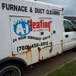 A I heating old duct truck