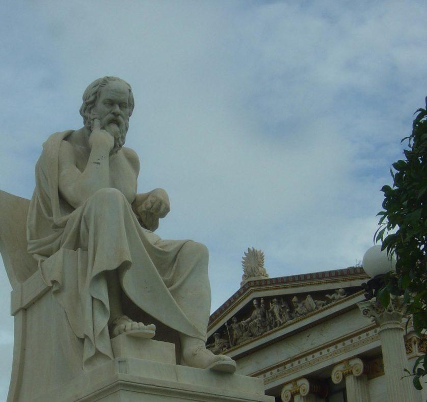 Estátua de Sócrates em Atenas