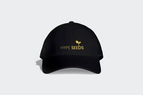 Black & gold sports cap