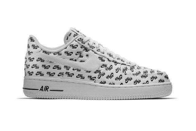 nike air force 1 all over logo print