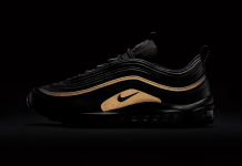 nike air max 97 all black reflective gold