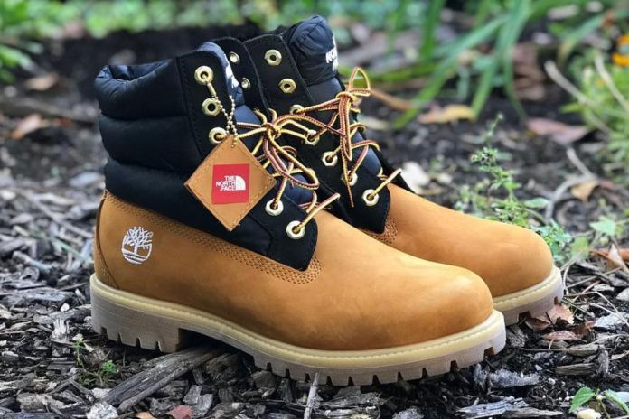 timberland the north face nuptse boot