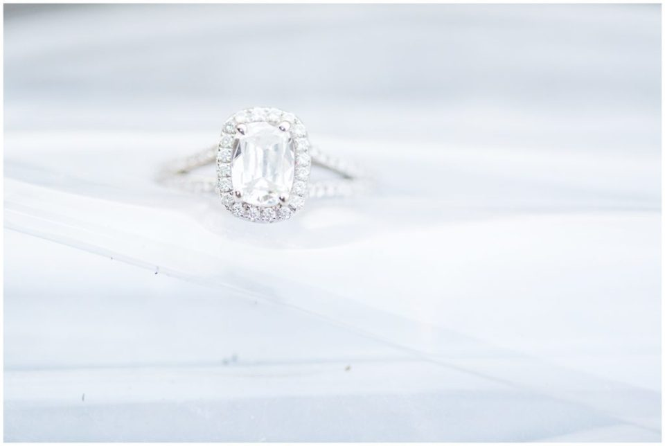 diamond engagement ring detailed shot