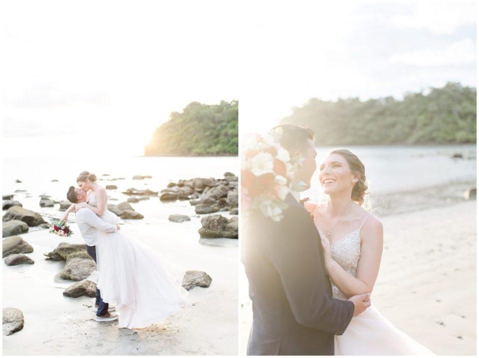 costa rica destination wedding beach pictures