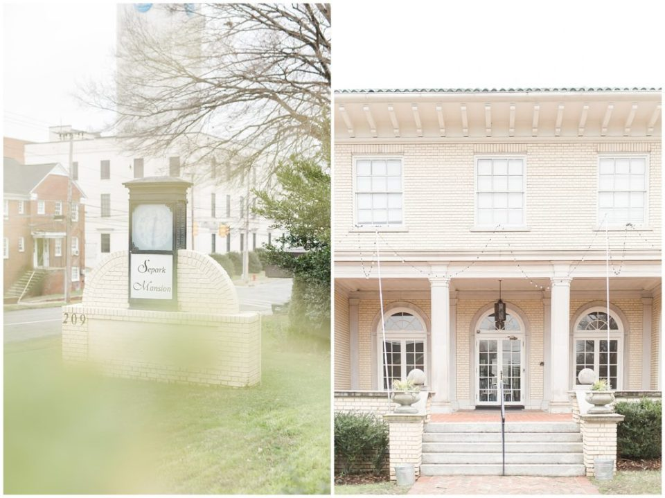 elegant classy mansion wedding venue in gastonia nc photographed by HYPimages
