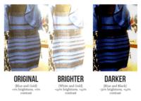 robe blanche ou bleue