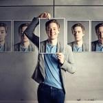 mann mit unterschiedlichen gesichern Selbstmarketing mit Hypnose und NLP