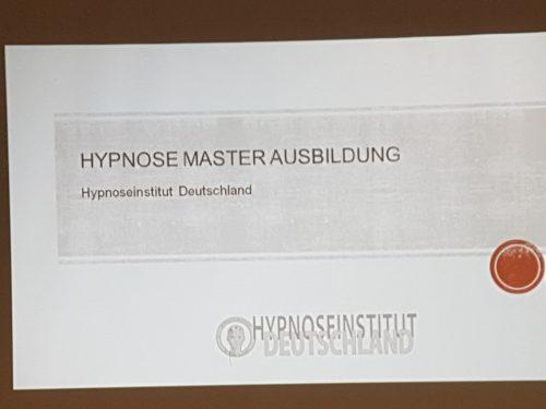 Hypnose Master Ausbildung Regensburg 2018 PP