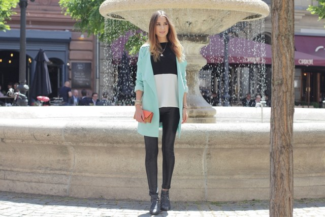 Mint Trenchcoat Outfit 6