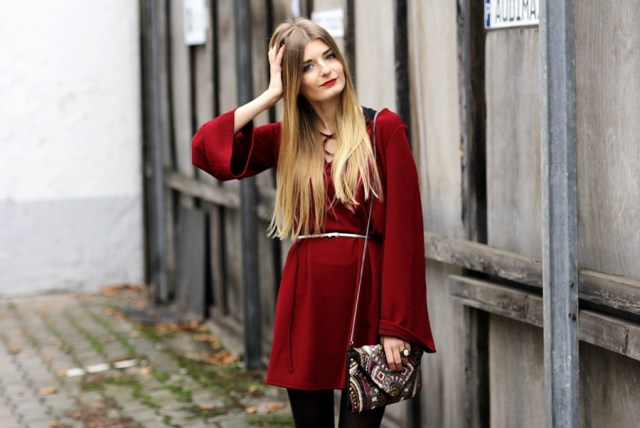 Rotes Kleid Outfit Blog 5