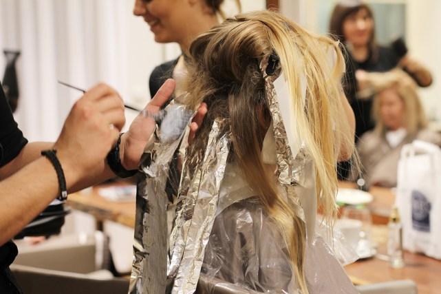 Umstyling Graue Haare Balayage