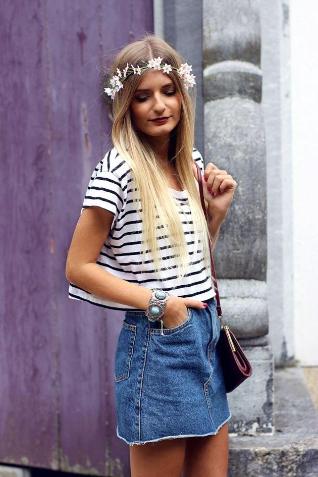 Modeblog-German-Fashion-Blog-Outfit-Jeansrock-Streifen-Shirt-2