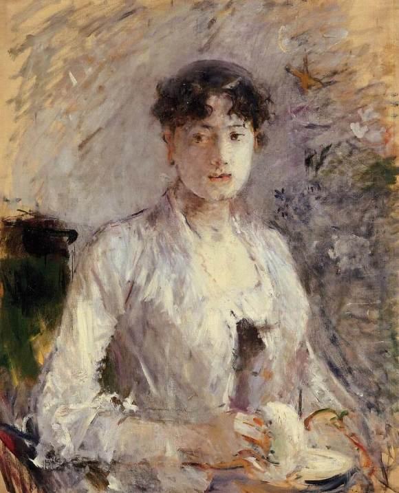 «Jeune femme en mauve» par Berthe Morisot
