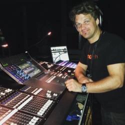 Ljudtekniker Robert Pettersson från Öresound Audio Group