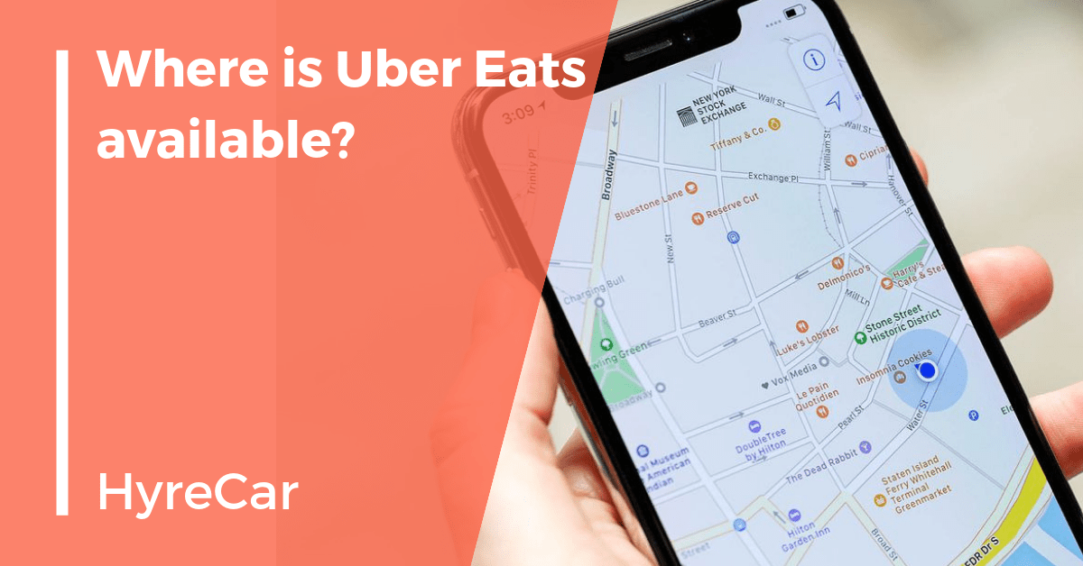 Uber eats, food delivery, hyrecar, rent a car
