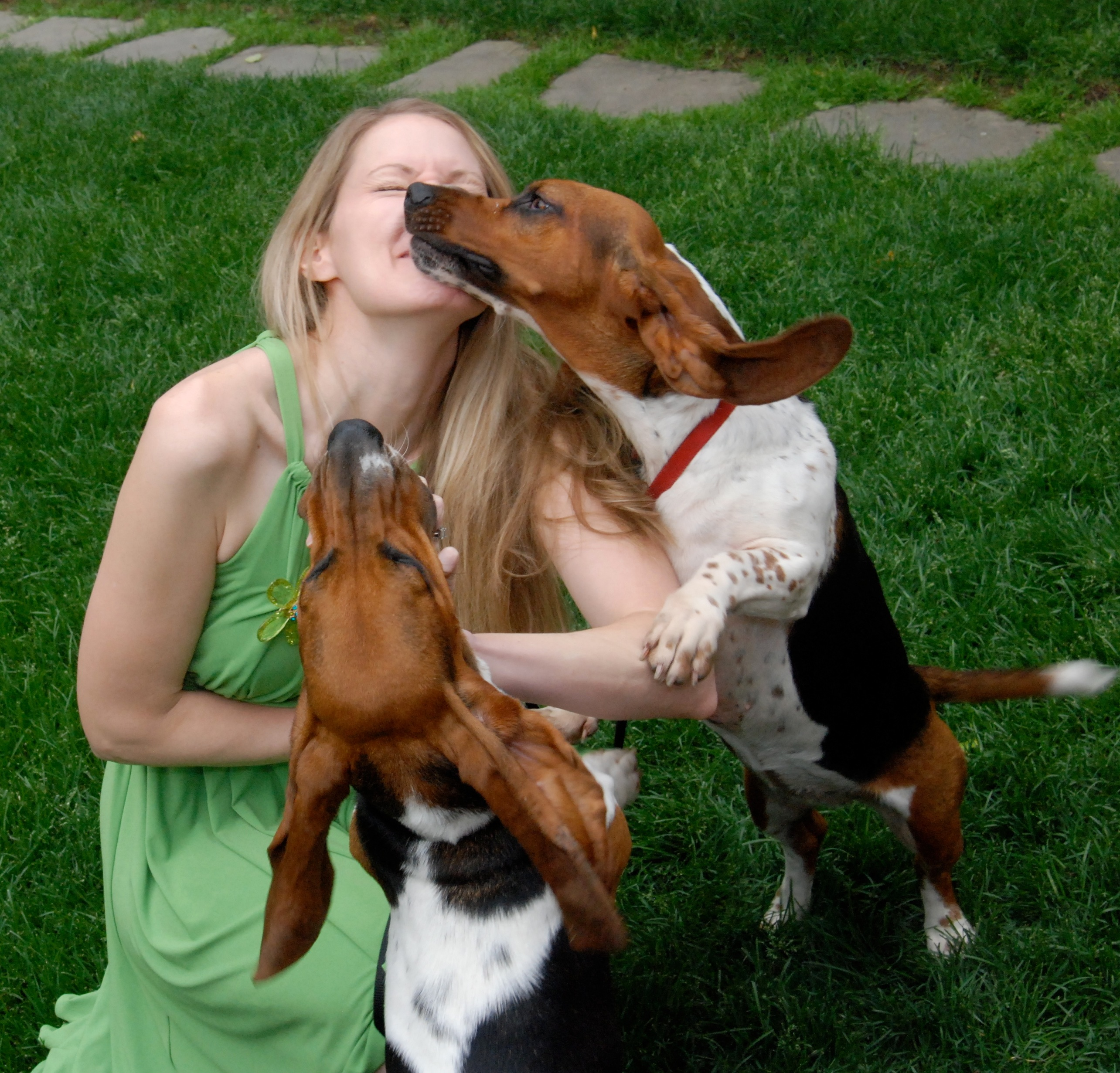 Eileen Kelly and her dogs