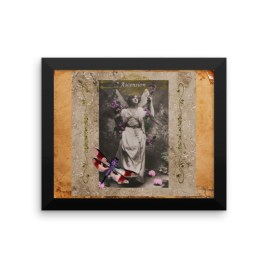 Ascension Vintage Fairy Framed photo paper poster