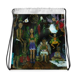 See the Little People Drawstring bag