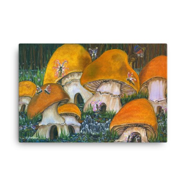 Mushroom Village Canvas