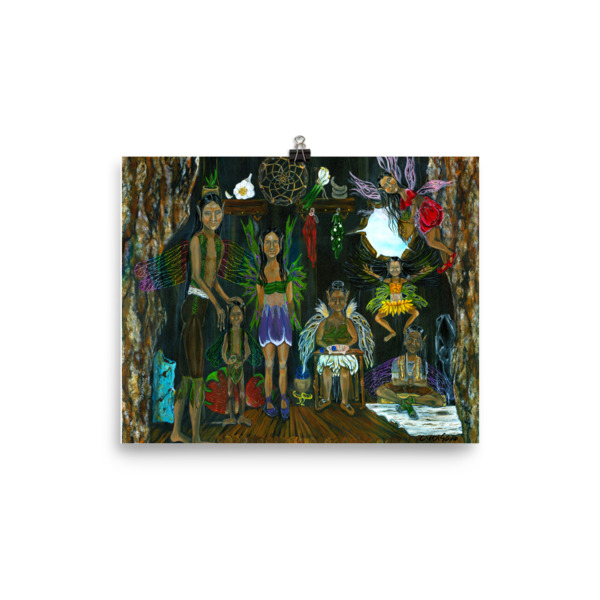 See the Little People…An Enchanting Adventure Photo paper poster