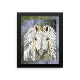 Unicorn Framed photo paper poster