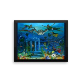 The Little People Journey into the Mystic Sea Framed photo paper poster