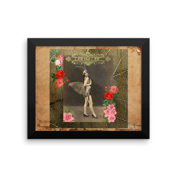 """I AM that I AM"" Vintage Fairy Framed photo paper poster"