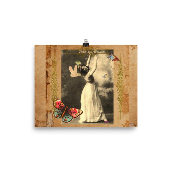 Free Spirit Vintage Fairy Poster