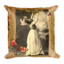 Free Spirit Square Pillow