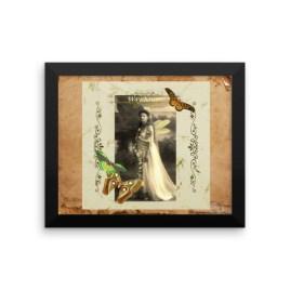 Wayshower Vintage Fairy Framed photo paper poster