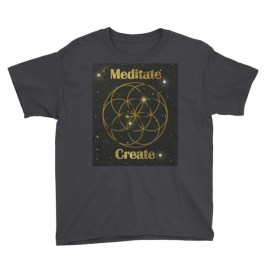 Child Meditate Create Seed of Life Youth Short Sleeve T-Shirt
