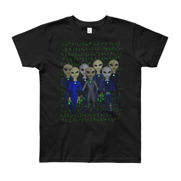 Alien Grey's Writings Kids 8 to 12 Youth Short Sleeve T-Shirt