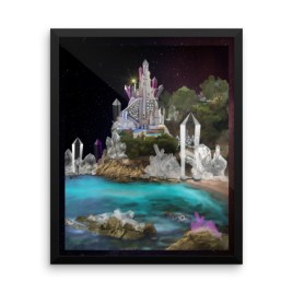 Inner Earth Crystal Palace Digital Art Framed photo paper poster