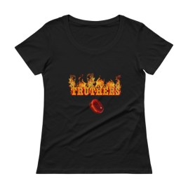 Truthers Red Pill Ladies' Scoopneck T-Shirt