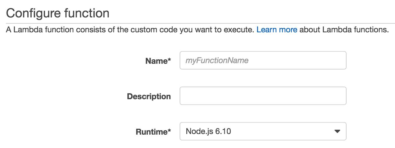 Configure Function Screenshot